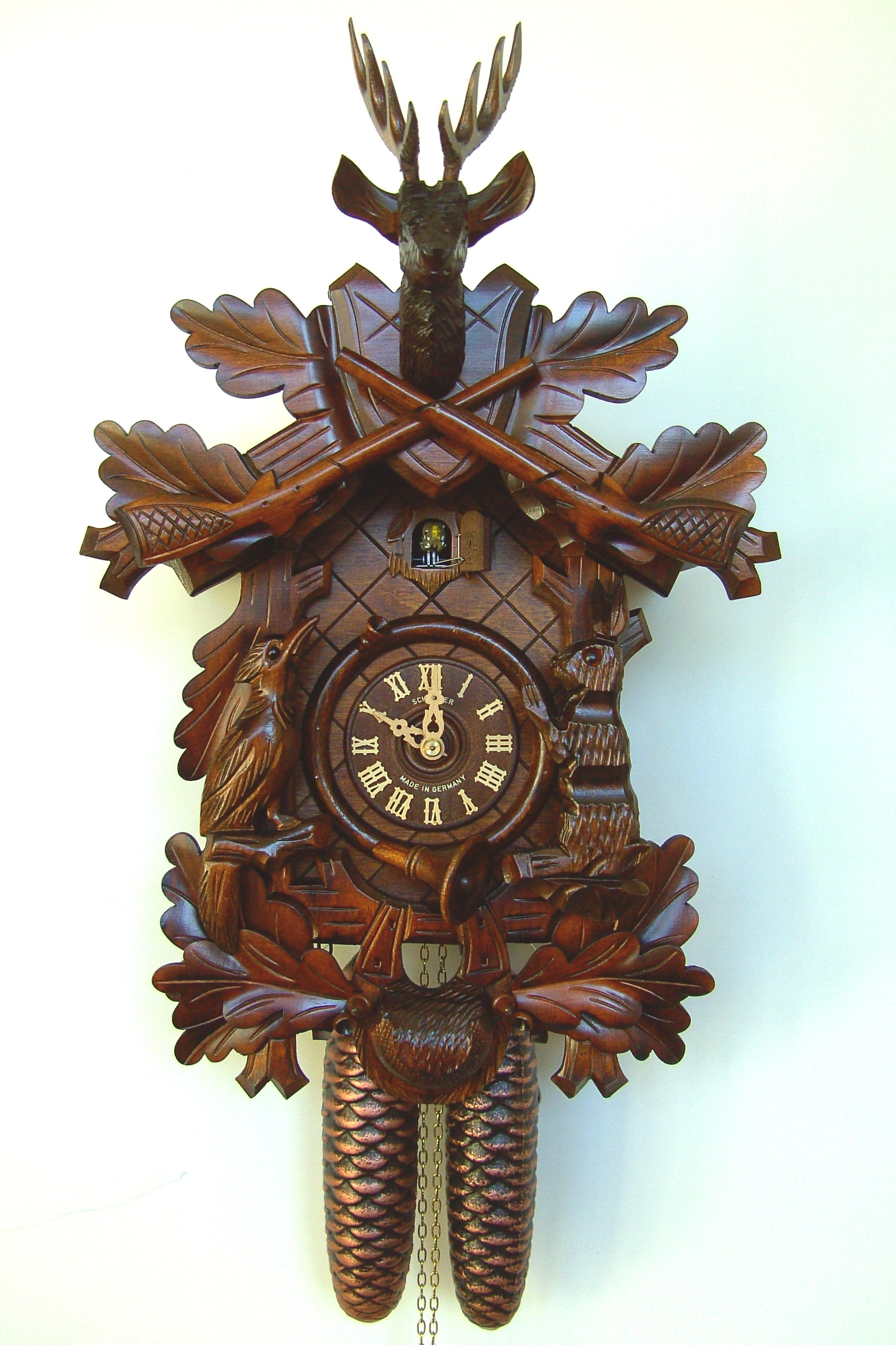 Hunters German Cuckoo Clock from the Black Forest - Grandfather's Clock Gallery & Clinic